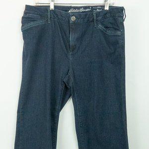 Eddie Bauer Curvy Trouser Blue Jeans Size 16